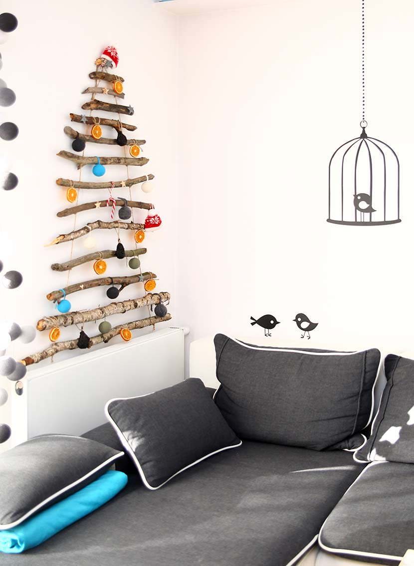 snow and fun choinka diy handmade christmas tree